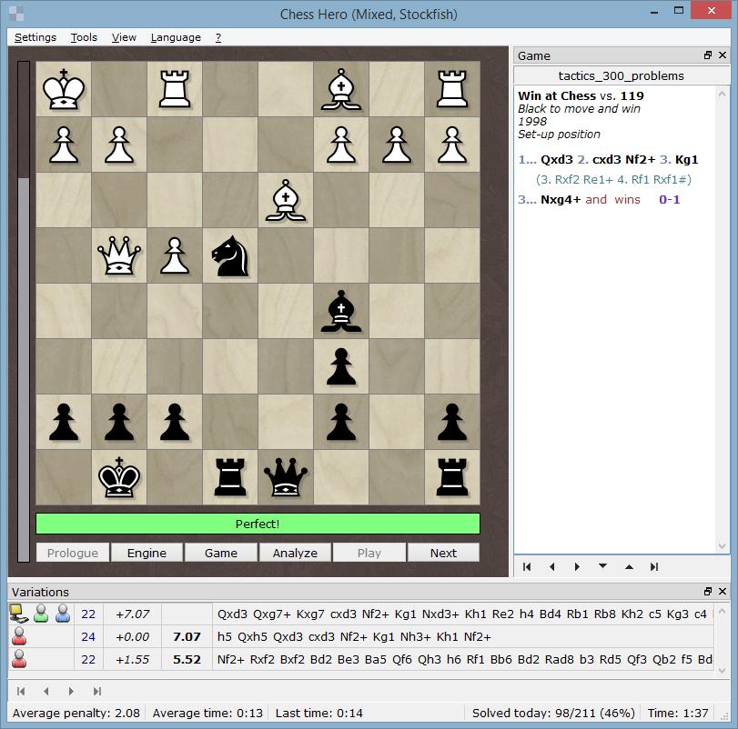 Chess Hero - A free chess training program